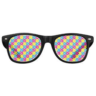 Pansexual Pixel Squares LGBT Pride Retro Sunglasses