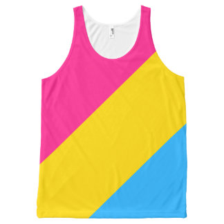 """PANSEXUAL PRIDE FLAG"" All-Over-Print TANK TOP"