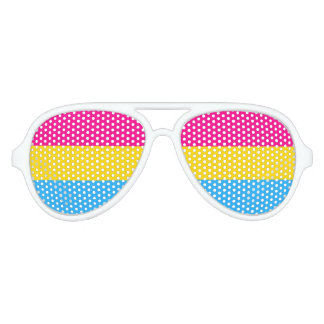 """PANSEXUAL PRIDE FLAG"" AVIATOR SUNGLASSES"
