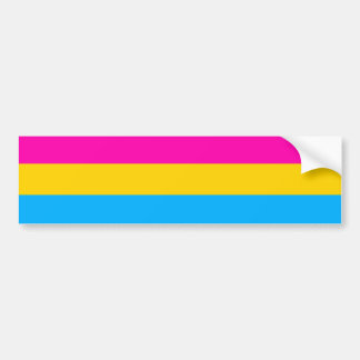 Pansexual pride flag bumper sticker