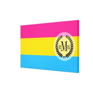 Pansexual Pride flag Canvas Print