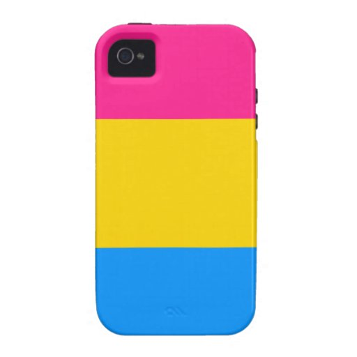 Pansexual pride flag Case-Mate iPhone 4 covers : Zazzle