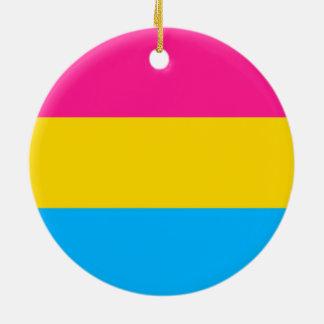 """""""PANSEXUAL PRIDE FLAG"""" CERAMIC ORNAMENT"""