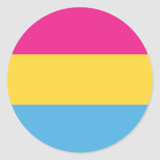 Pansexual | Pride Flag Design | Stripes | Classic Round Sticker