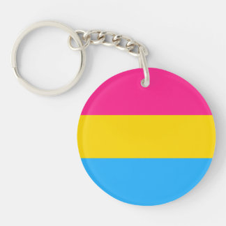"""PANSEXUAL PRIDE FLAG"" Double-Sided ROUND ACRYLIC KEYCHAIN"