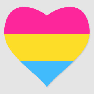 """PANSEXUAL PRIDE FLAG"" HEART STICKER"
