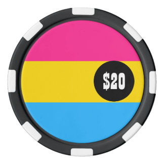 Pansexual Pride flag Poker Chips