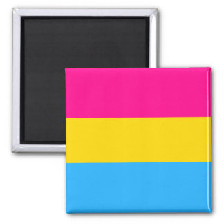 """PANSEXUAL PRIDE FLAG"" SQUARE MAGNET"