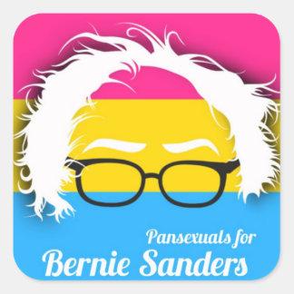 Pansexual pride for Bernie Sanders Square Sticker