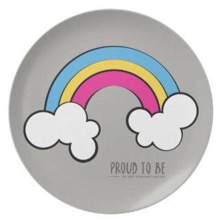 Pansexual | Rainbow Design | Plate