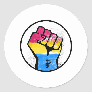 PANSEXUAL RESISTANCE AND SYMBOL - CLASSIC ROUND STICKER