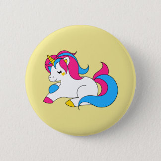 Pansexual unicorn 2 inch round button