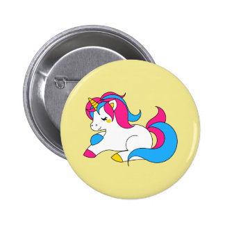 Pansexual unicorn 2 inch round button
