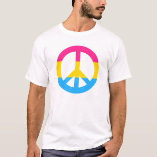 Pansexuality flag peace sign T-Shirt