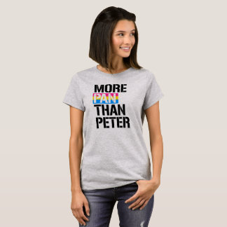 Pansexuality - More Pan Than Peter - - LGBTQ Right T-Shirt