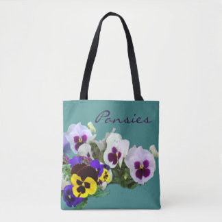 Pansies all-over bag