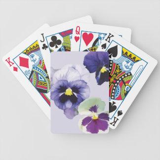 Pansies Bicycle Playing Cards