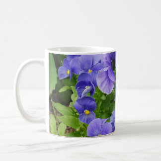 Pansies Classic White Coffee Mug