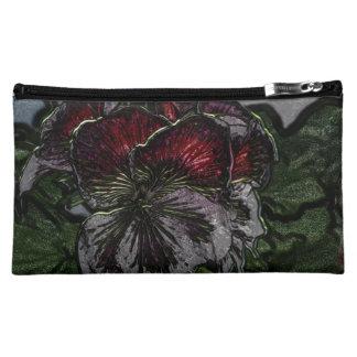 Pansies Cosmetic Bag