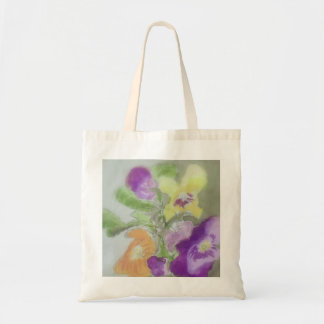 Pansies Design Tote Bag