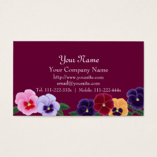 Pansies Floral Business Cards