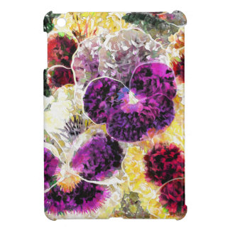 Pansies Flowers Abstract Art, iPad Mini Hard Case iPad Mini Cases