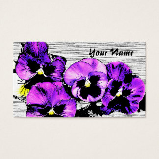 pansies gardening business card