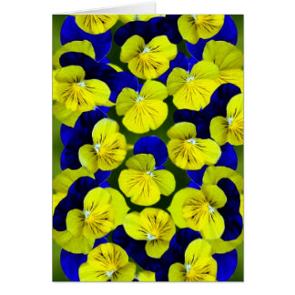 Pansies get well soon card