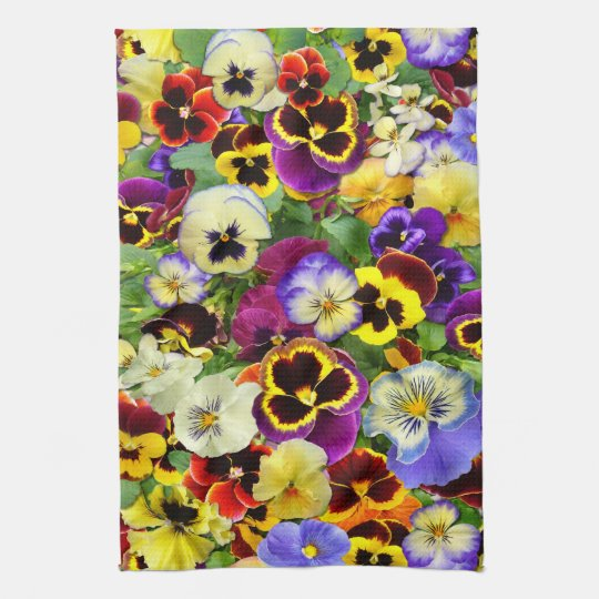 Pansies ~ Kitchen Towel