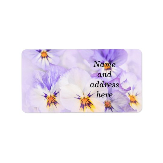 Pansies Label