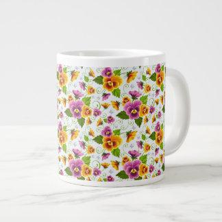 Pansies Large Coffee Mug