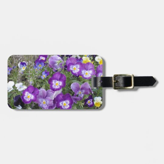 Pansies Luggage Tag