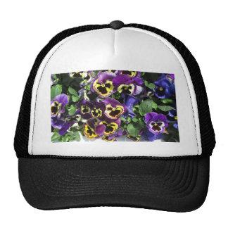 Pansies Multi Color Trucker Hat
