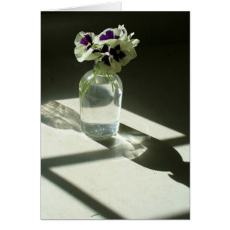 Pansies notecard