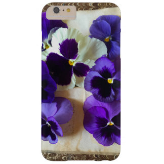 Pansies on an old book barely there iPhone 6 plus case