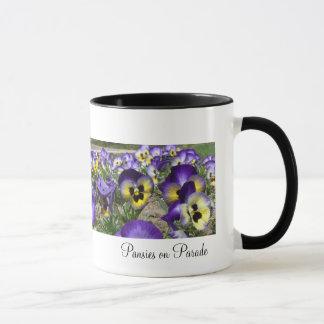 Pansies on Parade Mug