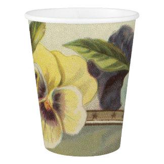 Pansies Paper Cup