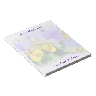 Pansies - Purple and Yellow Notepad