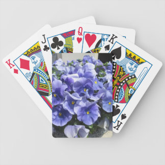 Pansies Sky Blue Bicycle Playing Cards