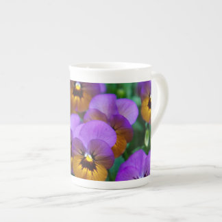 Pansies Tea Cup