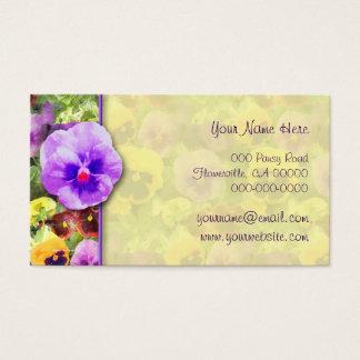Pansies Watercolor Business Card