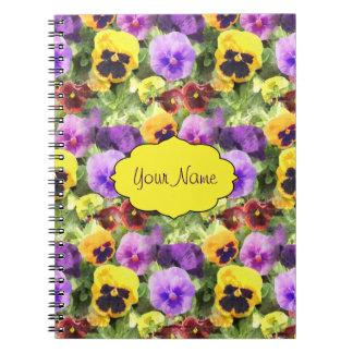 Pansies Watercolor Notebook