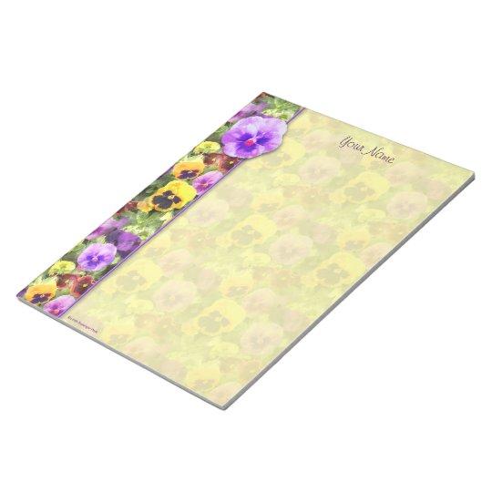 Pansies Watercolor Notepad