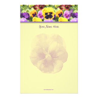 Pansies Watercolor Stationery