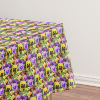 Pansies Watercolor Tablecloth