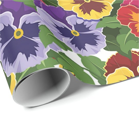 Pansies Wrapping Paper