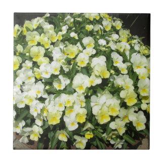Pansies Yellow Bunch Tile