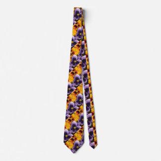 """""""Pansy 3"""" Flower Garden Neck Tie"""