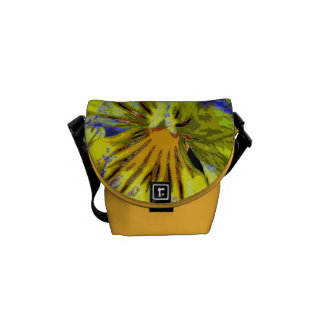 Pansy Abstract Courier Bag