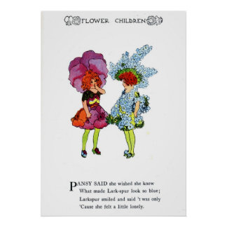 Pansy and Larkspur Poster